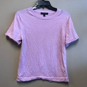 Banana republic Marino wool pink short sleeve Top